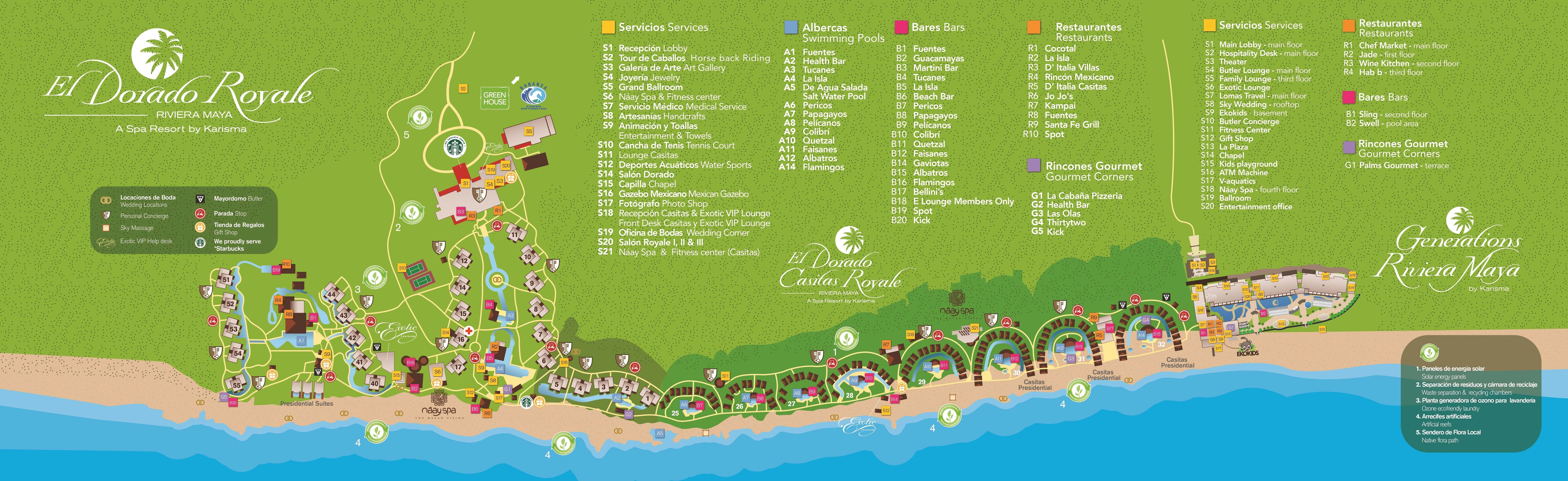 Location Cancun Golf Courses Map on