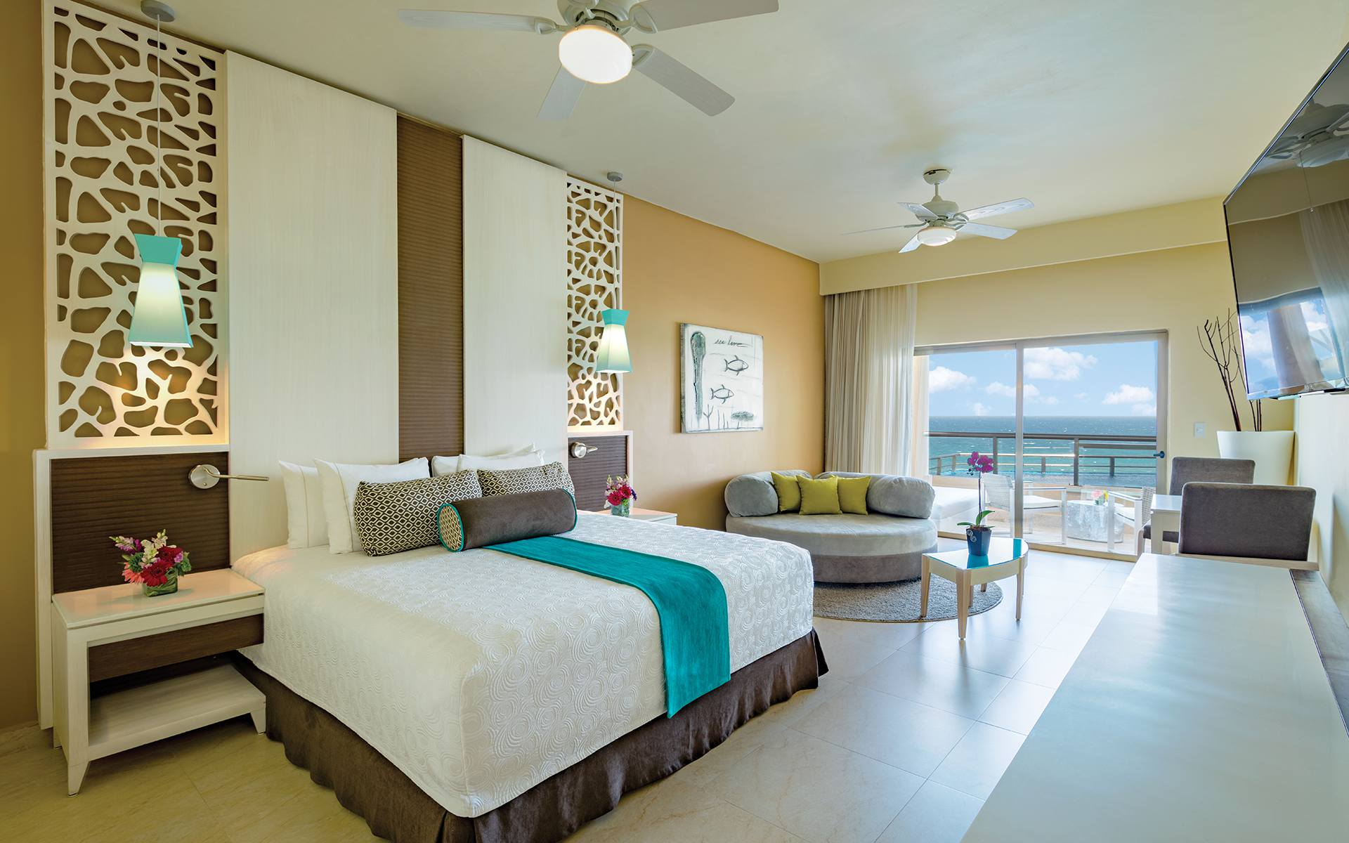 Relaxing Master Bedroom With Balcony